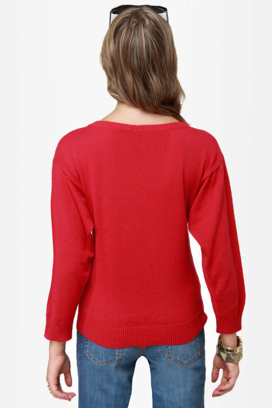 Niiice Kitty... Red Tiger Sweater at Lulus.com!
