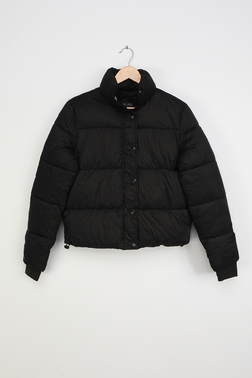 Deluc Aliyah Black Quilted Puffer Jacket