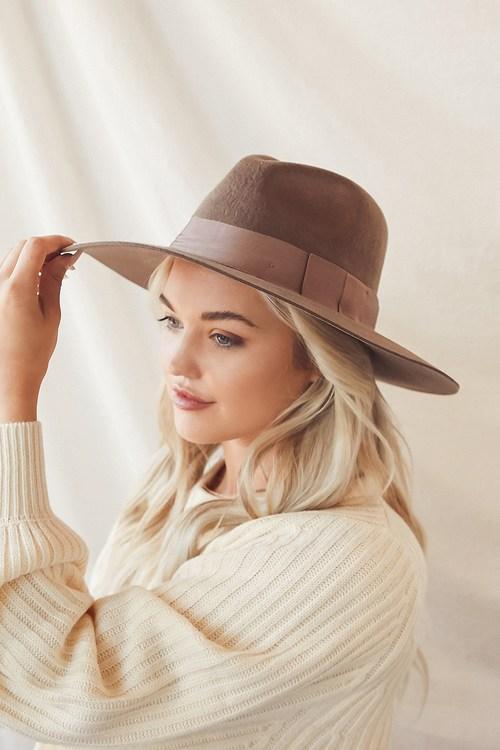 Wyeth Elle Brown Wool Fedora Hat