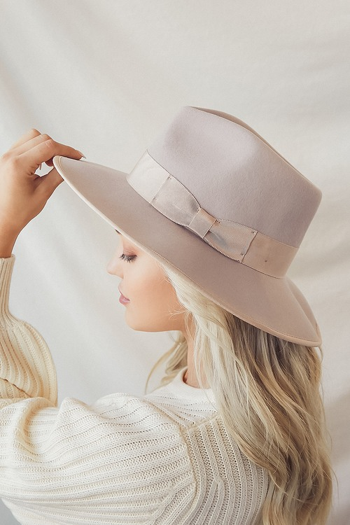Wyeth Maude Tan Wool Fedora Hat