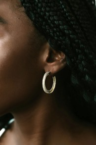 Amira 18KT Gold Hoop Earrings
