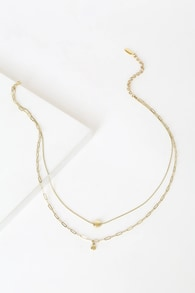 Golden Nugget 18KT Layered Charm Necklace