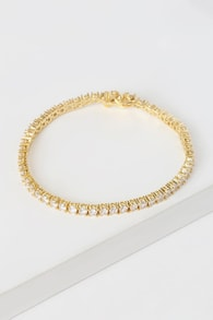 The Ballier 14KT Gold Rhinestone Bracelet