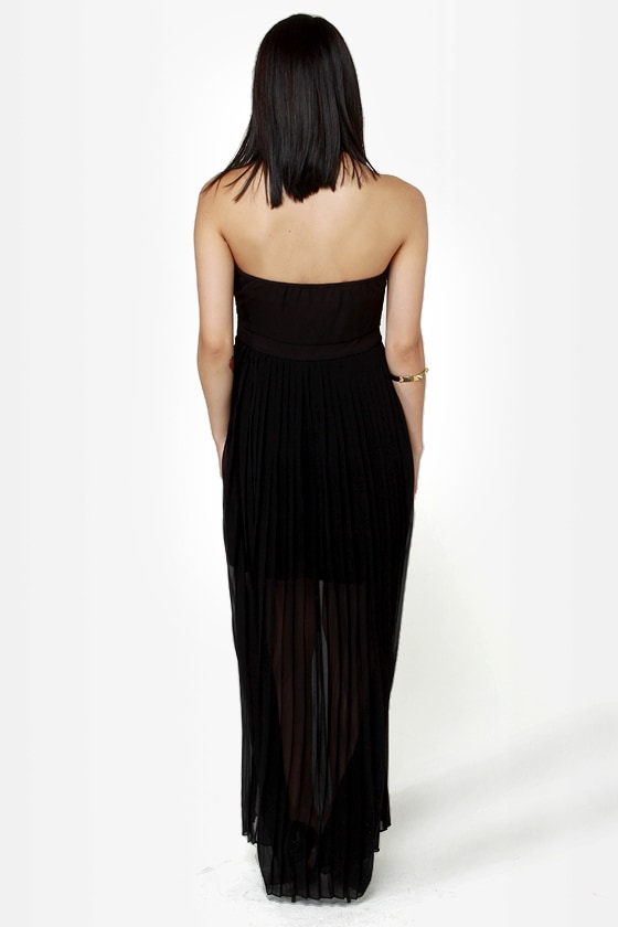 Gown and Out Black and Gold Sequin Maxi Dress at Lulus.com!