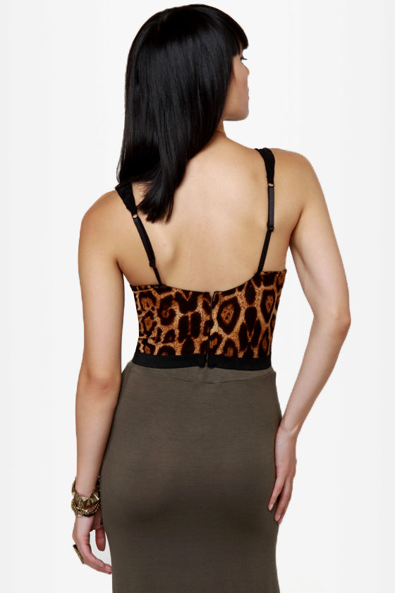 Purr-manent Record Animal Print Bustier Top at Lulus.com!