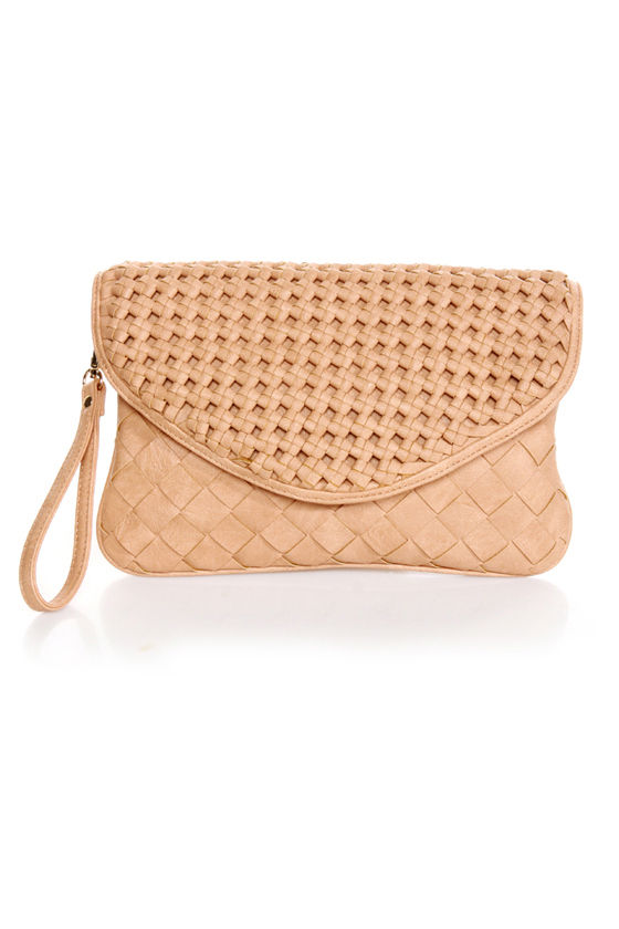 Lattice Harvest Beige Basket-weave Clutch by Urban Expressions at Lulus.com!
