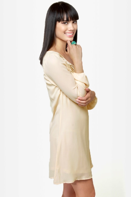 Swan Queen Beaded Cream Dress at Lulus.com!