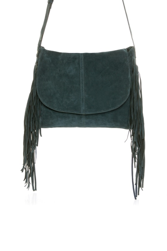 Homeward Dark Blue Fringe Purse