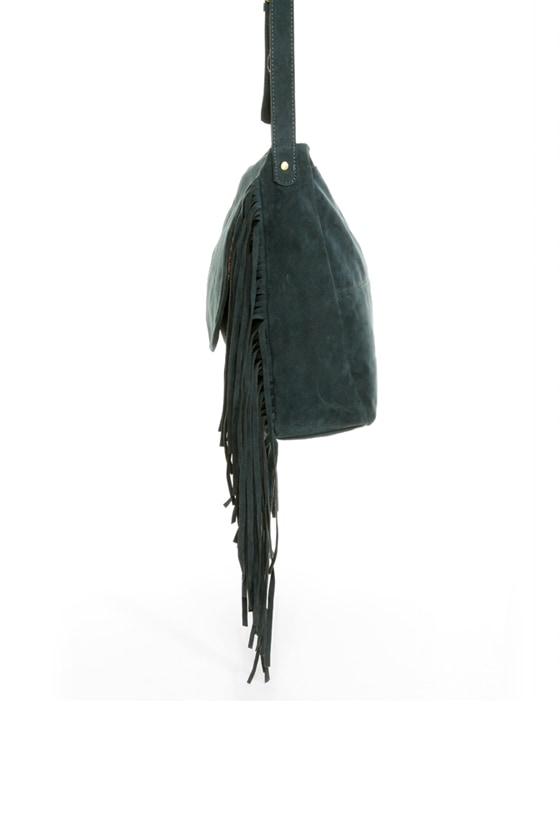 Homeward Dark Blue Fringe Purse at Lulus.com!