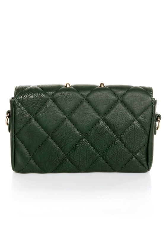 Point Sized Studded Green Purse at Lulus.com!