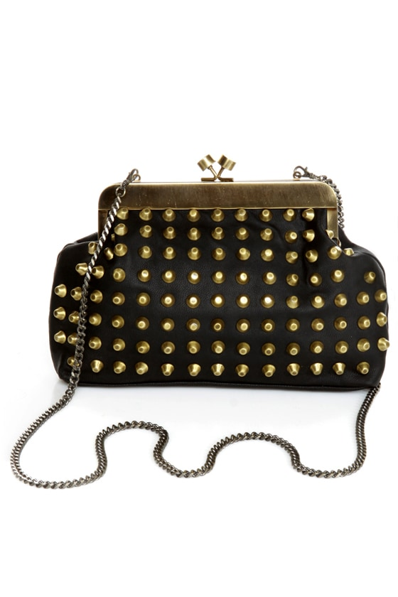 Outward Appearance Studded Black Purse