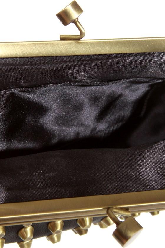 Outward Appearance Studded Black Purse