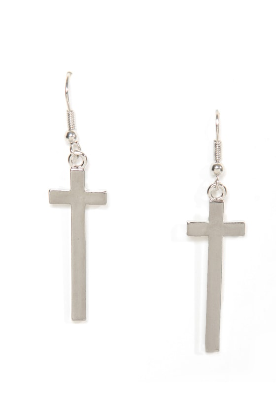 Livin' On a Prayer Gold Cross Earrings at Lulus.com!