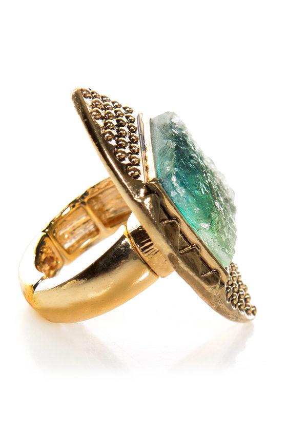 Kool Fade Gold Stretch Ring at Lulus.com!