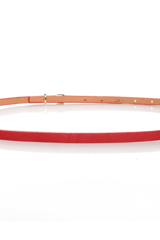 Pillow Skinny Red Belt