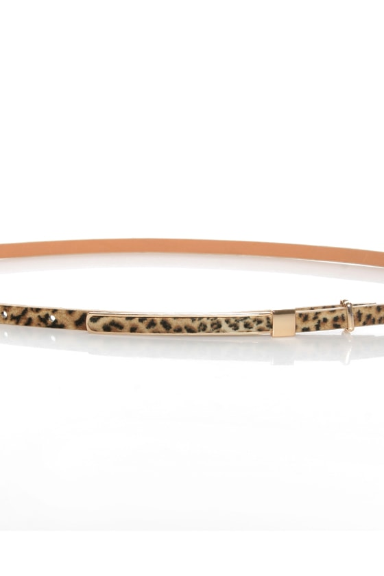 Pillow Skinny Animal Print Belt at Lulus.com!