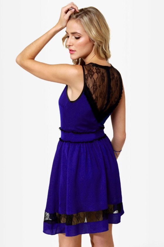 Yes We Can-Can Blue Lace Dress at Lulus.com!