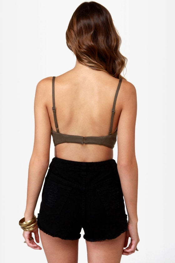 Bronze Plate Special Taupe Studded Bustier Top
