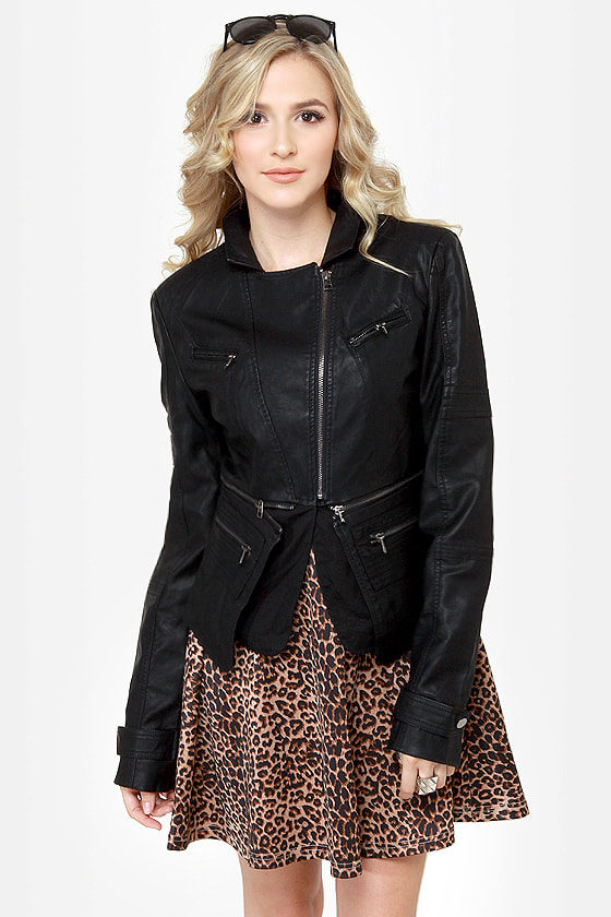 Pocketry Black Vegan Leather Jacket at Lulus.com!
