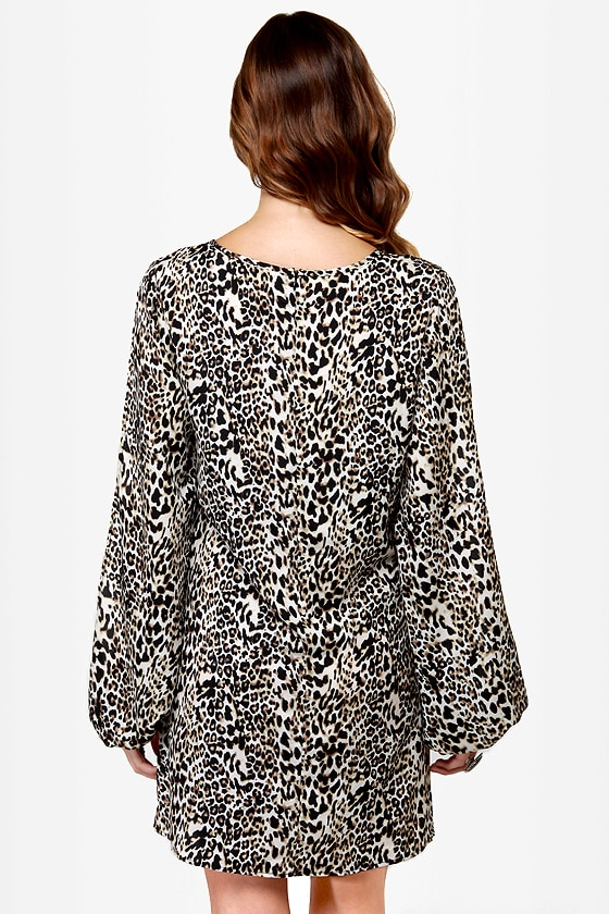 Out of Arm's Way Animal Print Shift Dress at Lulus.com!