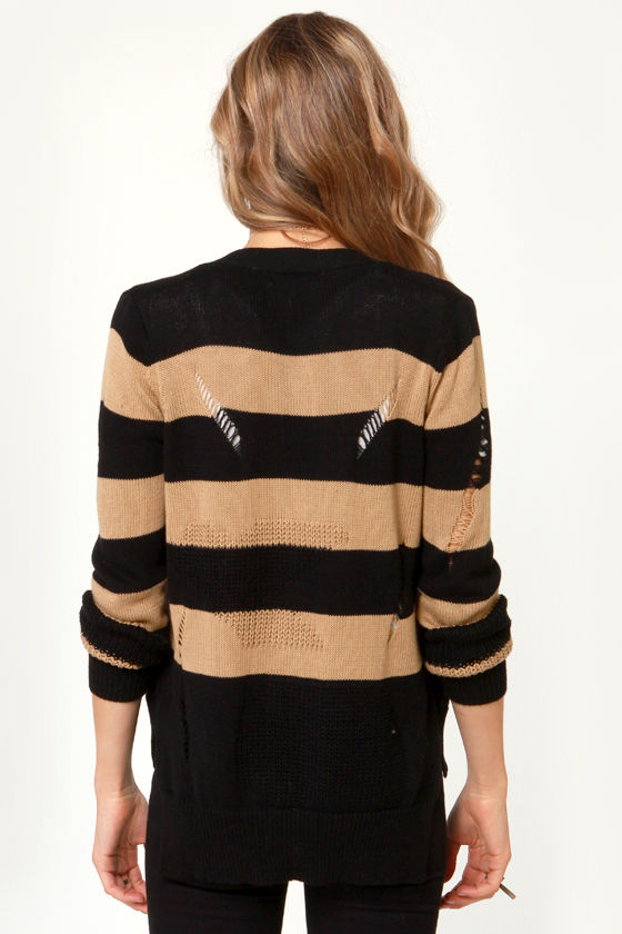 Back Slash Striped Cardigan Sweater at Lulus.com!