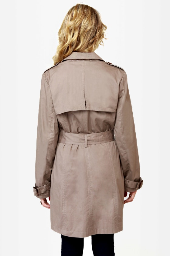 My Dear Watson Taupe Trench Coat at Lulus.com!
