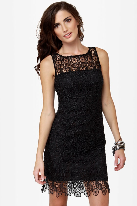 BB Dakota Morrow Black Lace Dress