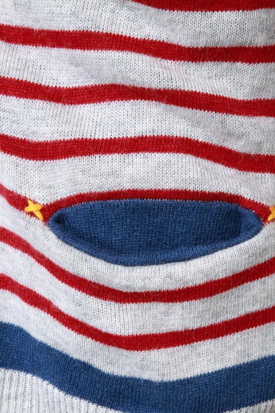 Essay Contest Grey Striped Cardigan Sweater