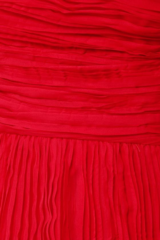 BB Dakota Lewiston One Shoulder Red Dress