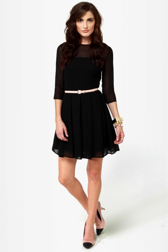 BB Dakota Rylan Dress - Black Dress - Fit and Flare Dress - $82.00