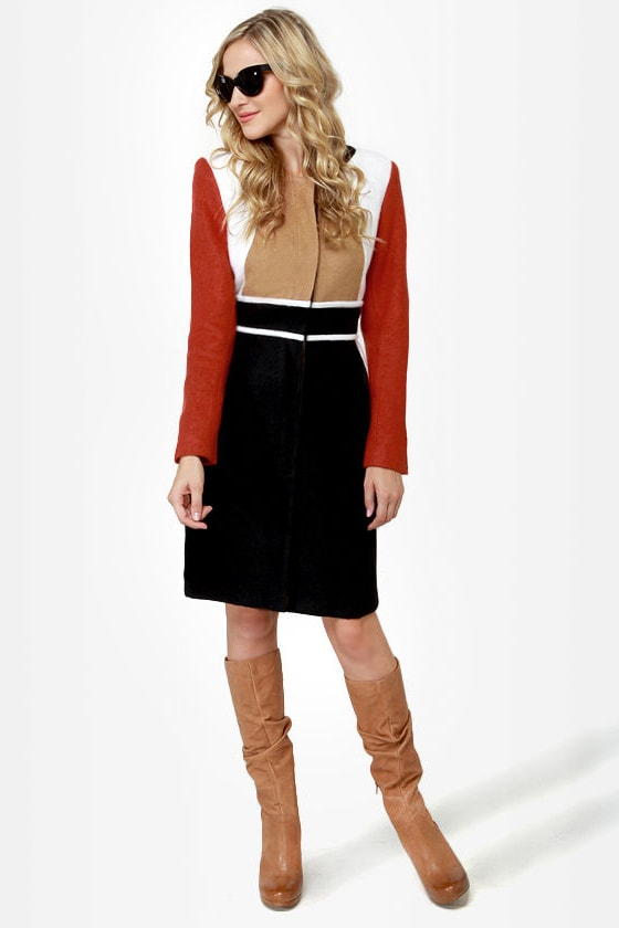 Mod About You Color Block Coat at Lulus.com!