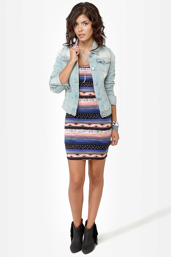 Hurley Casablanca Print Dress at Lulus.com!