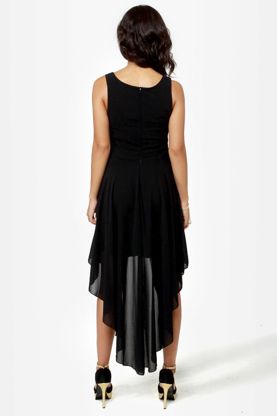 Amp Up The Vamp Black High-Low Dress at Lulus.com!