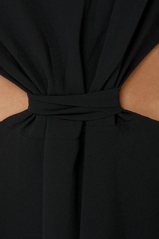 Amp Up The Vamp Black High-Low Dress