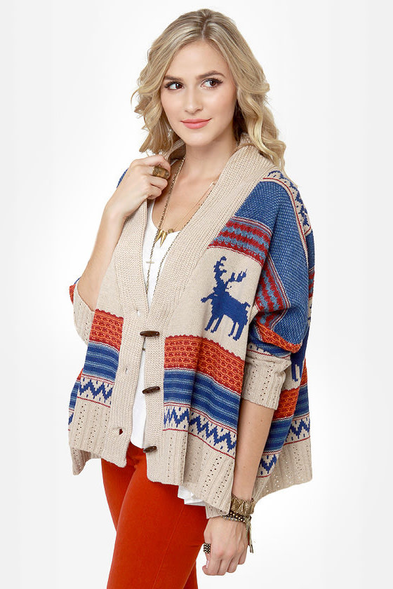 Spruce Moose Beige Cardigan Sweater at Lulus.com!