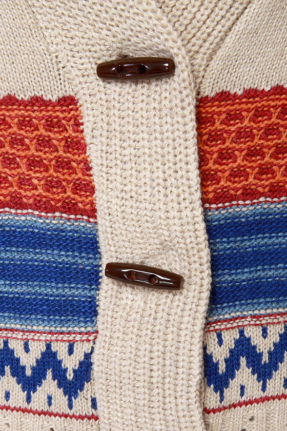 Spruce Moose Beige Cardigan Sweater
