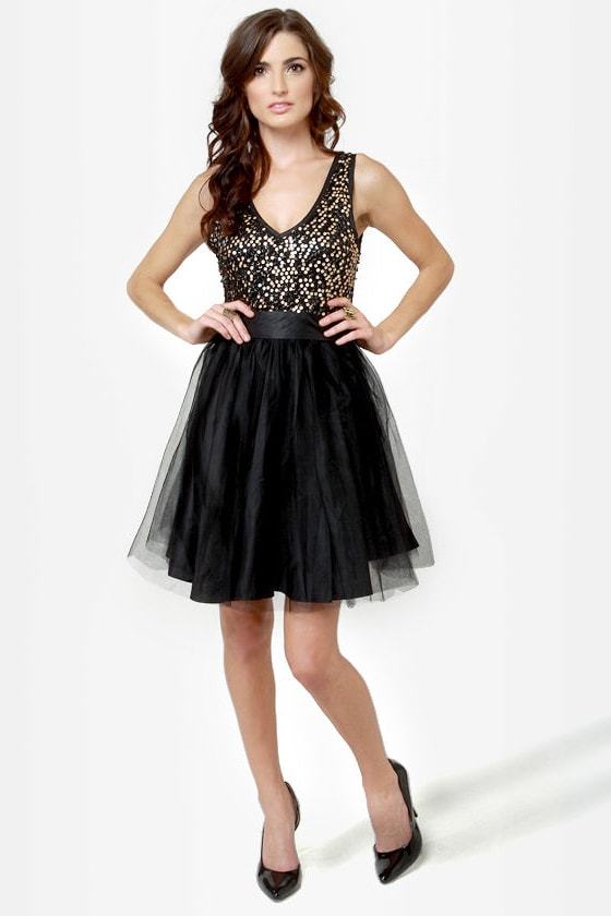 Ballet it on Me Black Sequin Dress at Lulus.com!