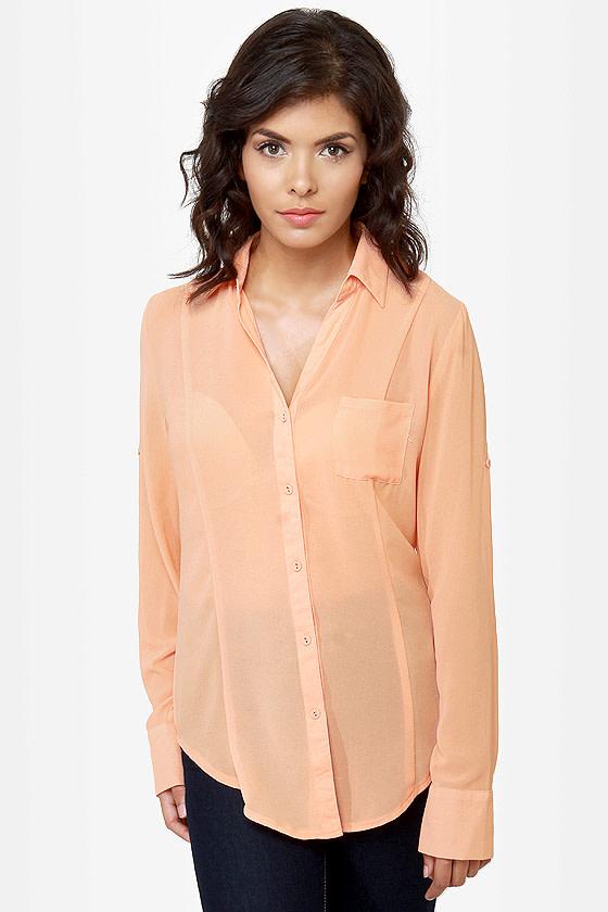 Rein-Vent Yourself Peach Cutout Top