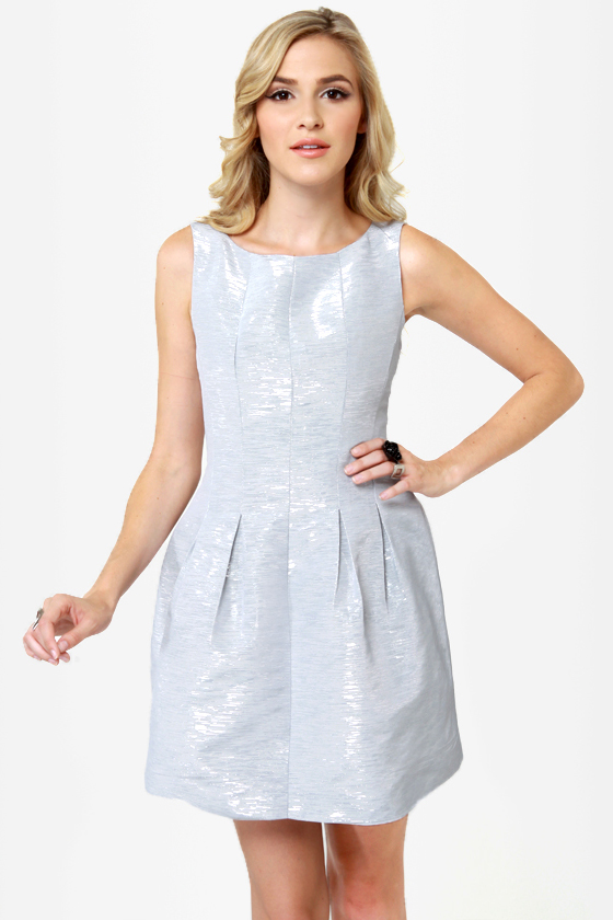Chrome Sweet Chrome Silver Dress at Lulus.com!