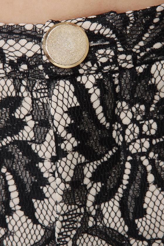 Lacy Bones Black Lace Cropped Pants
