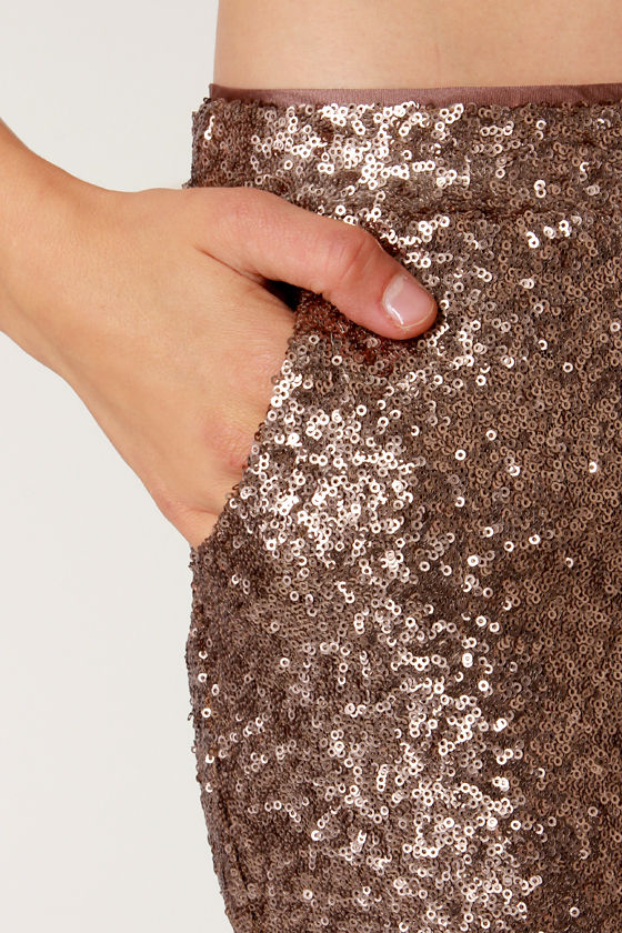Reflections Of Bronze Sequin Pants at Lulus.com!