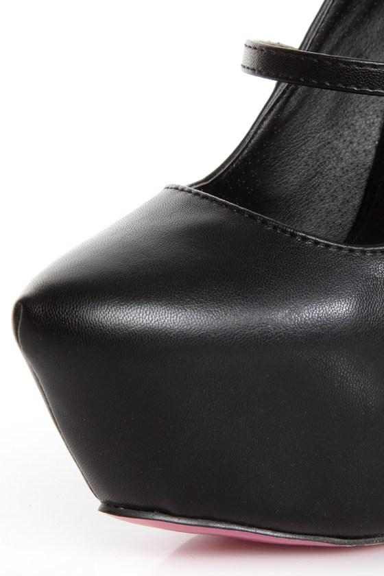 Privileged Elly Black Spiked and Sparkly Platform Heels