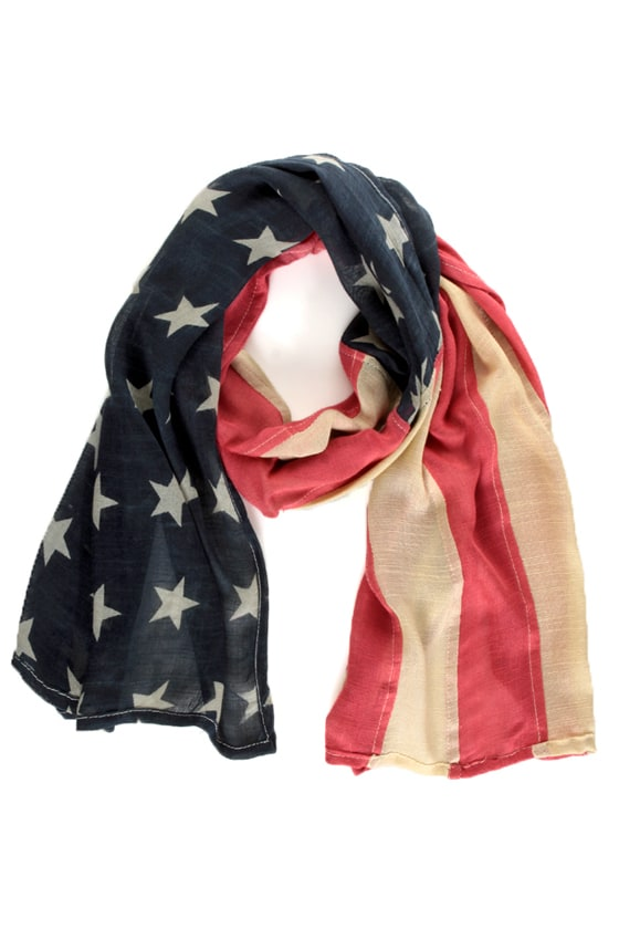 Lady Liberty American Flag Scarf