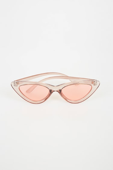 Hit Me Up Pink Mirrored Cat-Eye Sunglasses