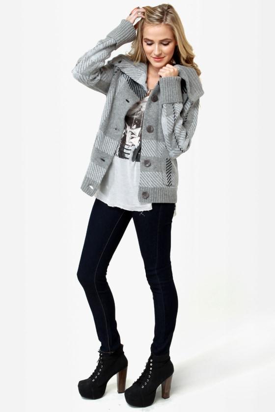 Roxy Knickerbocker Grey Sweater