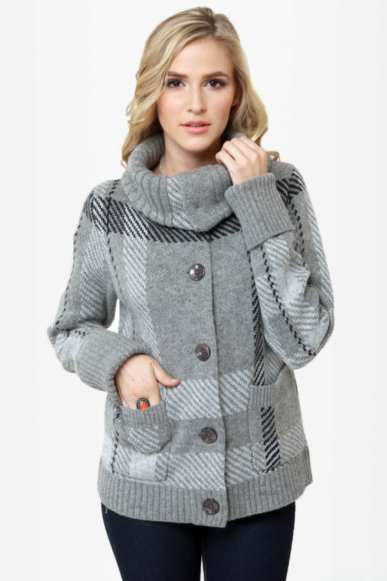 Roxy Knickerbocker Grey Sweater at Lulus.com!