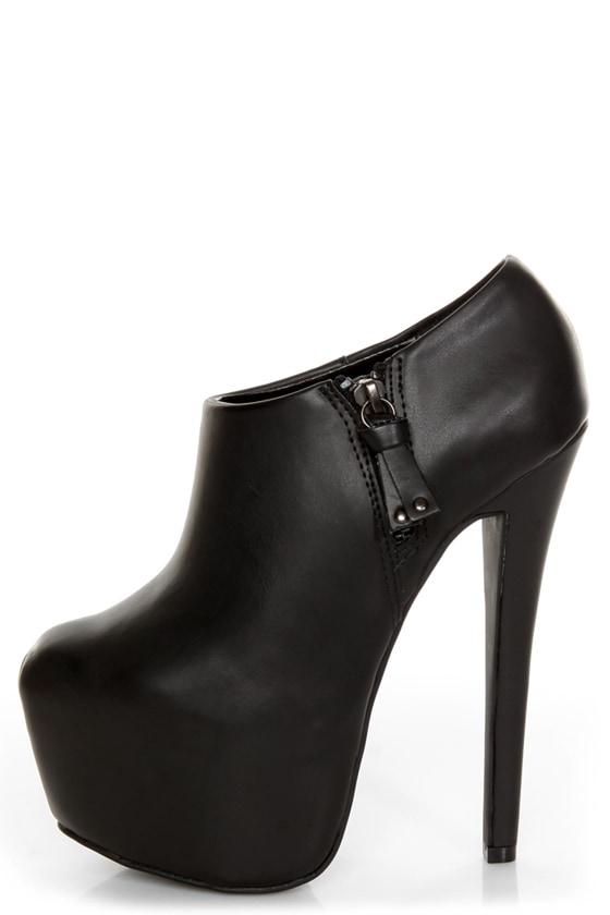 Shoe Republic LA Altitude Black Super Platform Booties