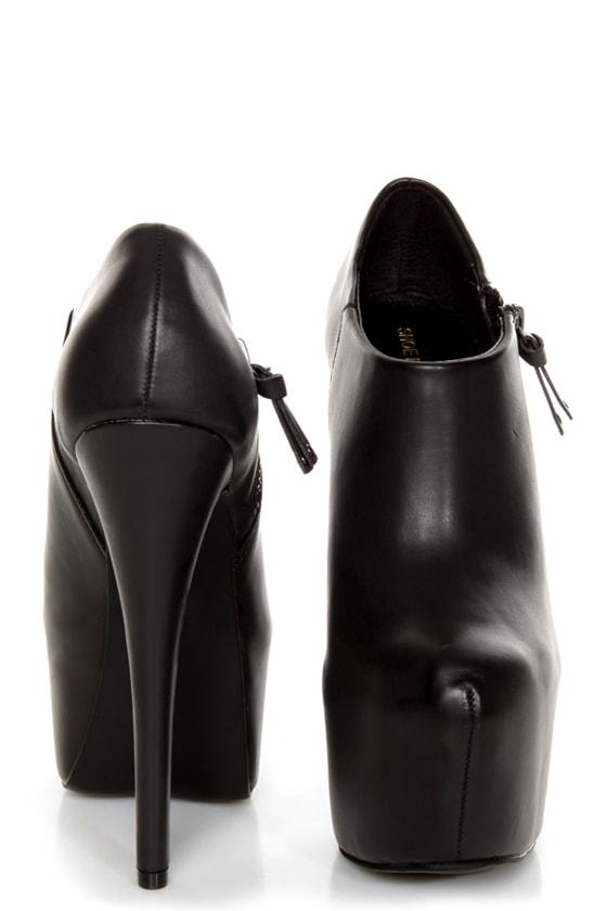 168138ff7a3 Shoe Republic LA Altitude Black Super Platform Booties -  66.00