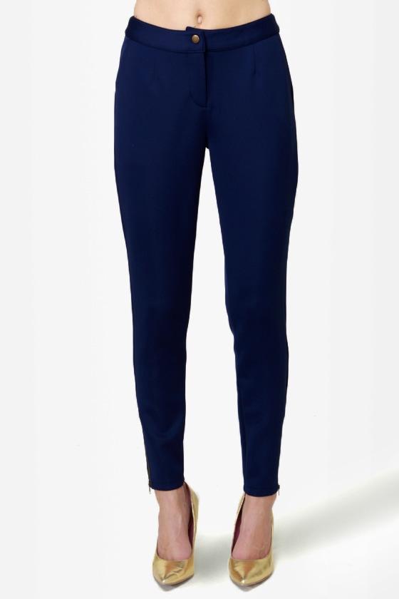 ab09a2ebee0 Cute Navy Blue Pants - Skinny Pants -  42.00
