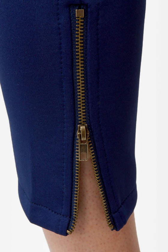 Zip It Good Navy Blue Skinny Pants